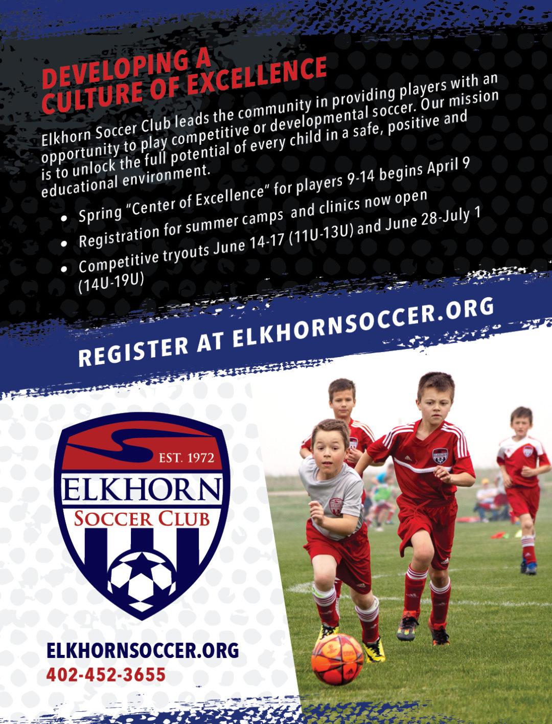 Elkhorn Soccer Club Ad