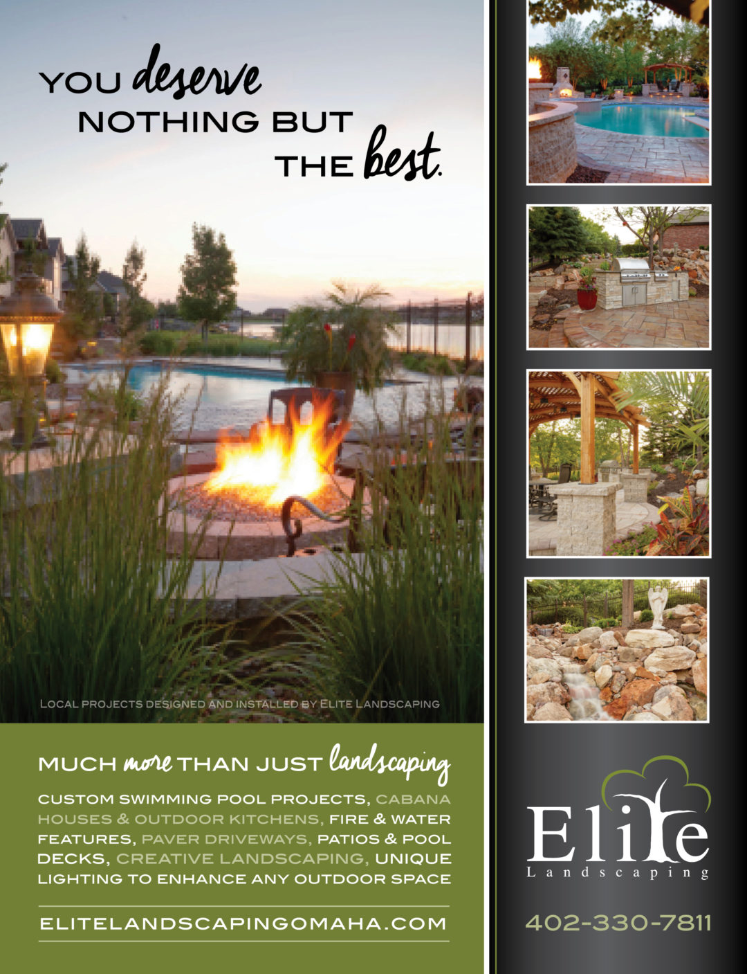 Elite Landscaping Ad