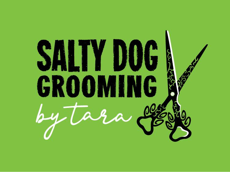 Salty Dog Grooming Logo